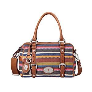 FOSSIL Woven Maddox Convertible Satchel Bag